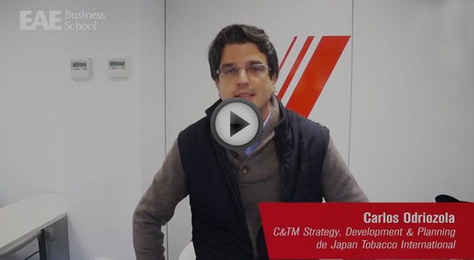 Carlos Odriozola de JTI en EAE Business School Madrid
