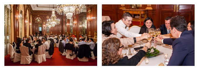 Students' dinner to celebrate the end of the Executive MBA