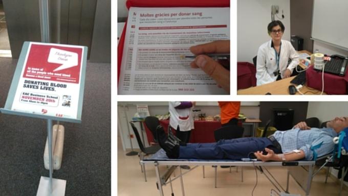 Campaña de donación de sangre Barcelona 2015