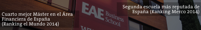 Master en Dirección y Gestión Financiera de EAE Business School