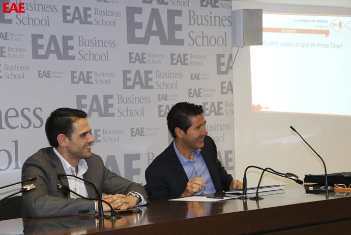 Joan Guitart en una conferencia para alumnos de Marketing de EAE Business School