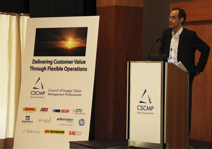 Miquel Serracanta en el II Supply Chain Leadership Forum, con EAE como colaborador