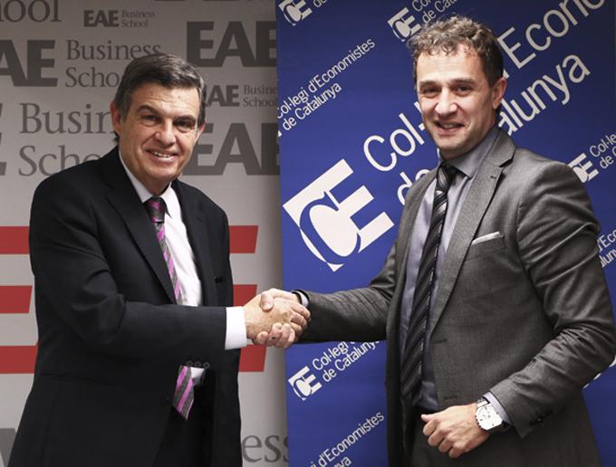 Nuevo acuerdo entre EAE y Col·legi d'Economistes de Catalunya
