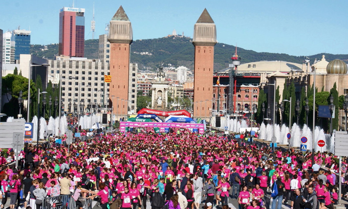 Carrera de la mujer 2014 Barcelona y EAE