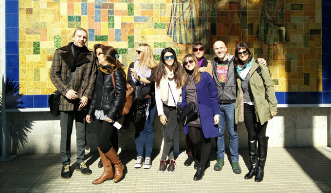 Alumnos de la Rome Business School en EAE Business School Barcelona visita Damm