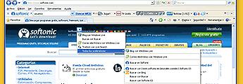 Internet Explorer 8 optimizado para Softonic