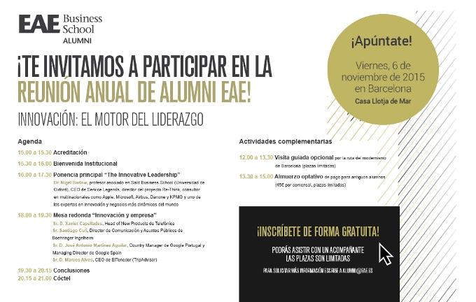 Invitación Reunión Anual Alumni EAE