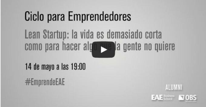 Accede a la quinta sesión online de Emprendedores EAE