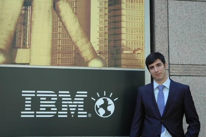 Daniel Lobato, student chosen in Jumping Talent to work in IBM