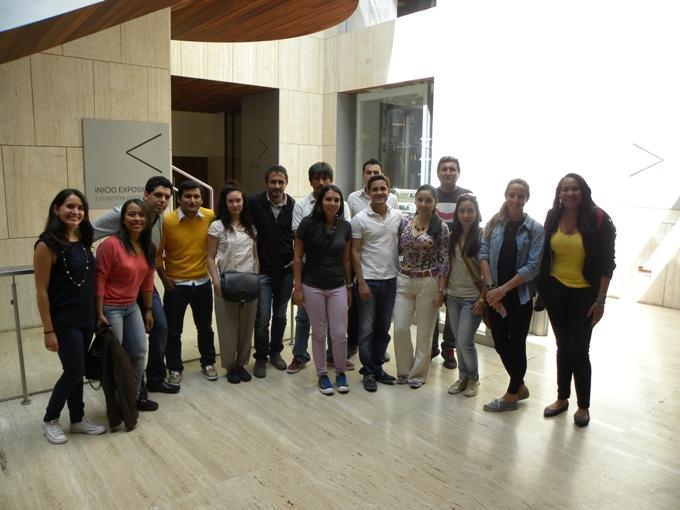 Grupo de alumnos de EAE Business School en la visita al Museo Arqueológico Nacional