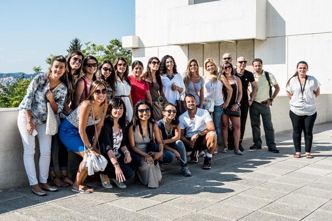 Grupo de alumnos en la visita cultural a la Fundación Joan Miró de Barcelona