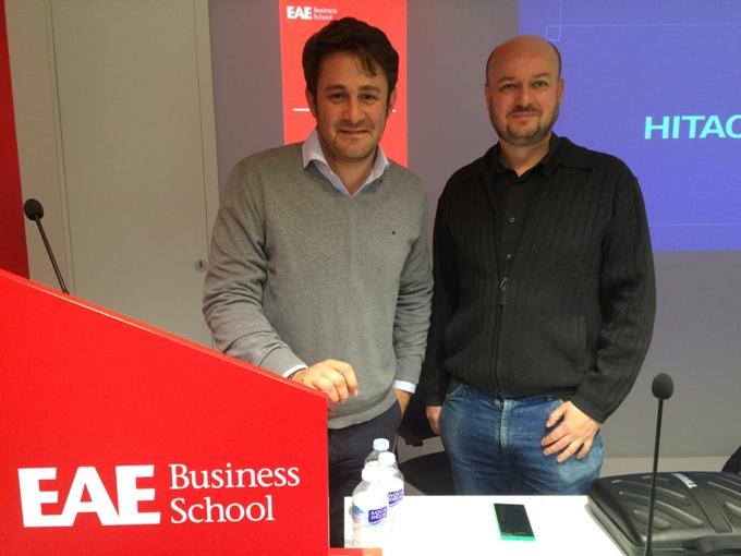 Pablo Galilea y Heredia Yzquierdo en el café&CEO de Microsoft en EAE