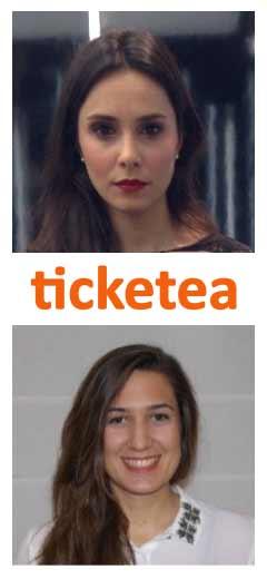 Lola Aguado and Lara Gallo from Ticketea