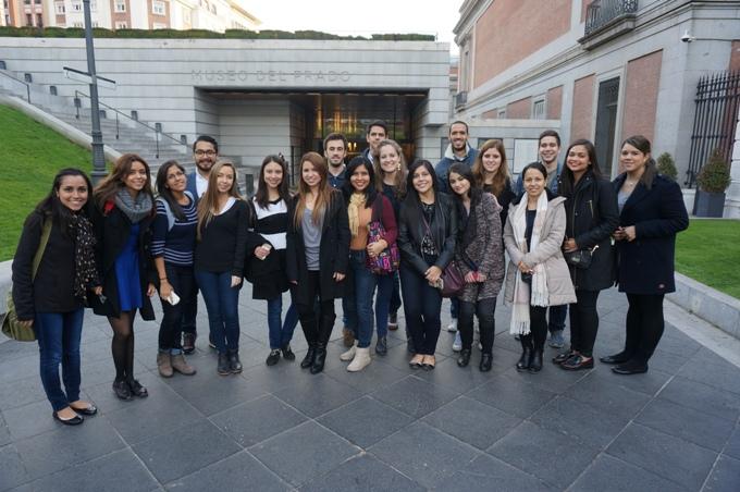 Visita de los alumnos en el Museo del Prado de Madrid