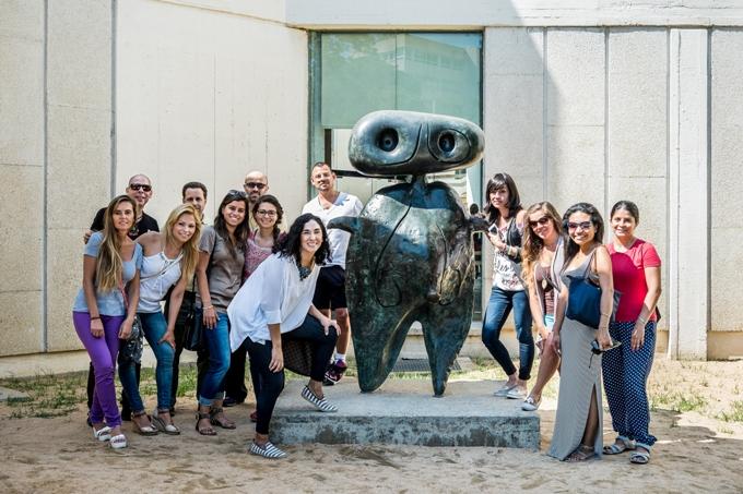 Visita cultural de los alumnos de EAE a la Fundación Joan Miró