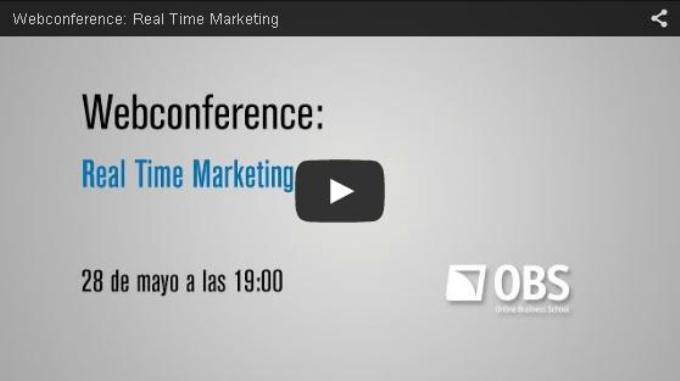 Webconference: Real Time Marketing