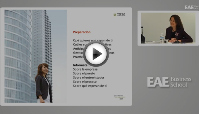Video Webinar EAE: La entrevista personal: el factor clave