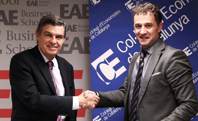 EAE y el Col•legi d'Economistes de Catalunya