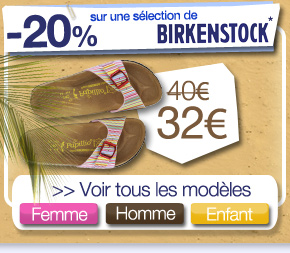 -20% sur une sélection Birkenstock