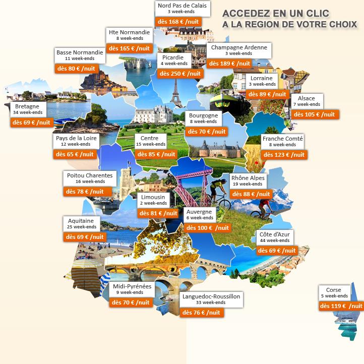 Escapades en Septembre : dès 65 € /nuit pour 4 personnes en France