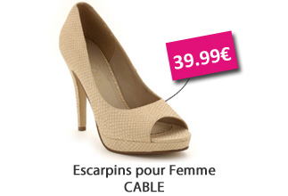 escarpins Cable 39,99?