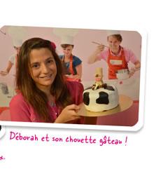 Déborah et son chouette gâteau !