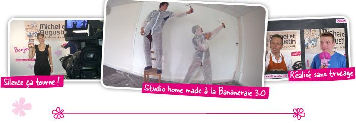 Studio home made à la Bananeraie 3.0. Réalisé sans trucage. S. Splielberg n'a qu'à bien se tenir ;)