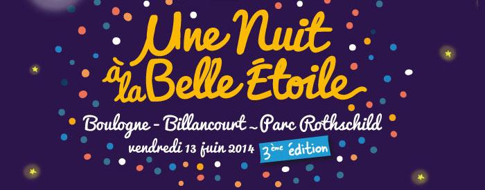 Une nuit à la belle étoile - Boulogne Billancourt - vendredi 13 juin 2014